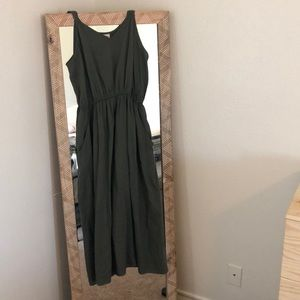 Women's olive green dress
